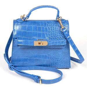 3AM HPC3738 croc crossbody cobalt blue