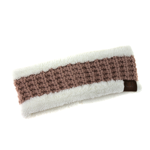 Winter CC 028e headband weave pink/white