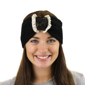 winter cap 080 40 lace button black