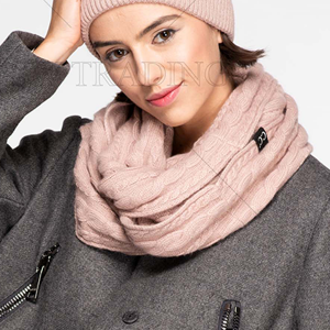 Scarf 255 CC Exclusives Ribbed Infinity Scarf rose