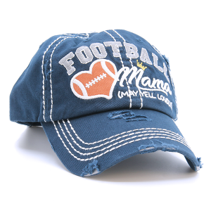 Cap 145e 30 KBEthos Distressed Football Mama navy