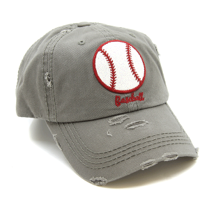 Cap 398 30 KBEthos distressed cap glittery baseball gray