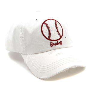 Cap 416 30 KBEthos distressed cap glittery baseball white
