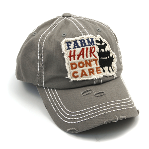 Cap 413a 30 KBEthos distressed farm hair don't care light gray