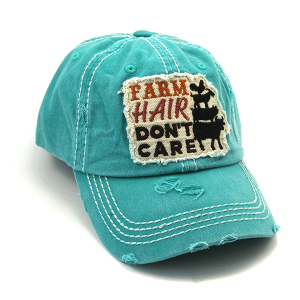 Cap 412a 30 KBEthos distressed farm hair don't care turquoise