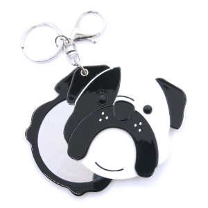 Keychain 064 34 Dog face mirror black