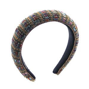 Headband 048a 52 Jennifer & Co rhinestone multi