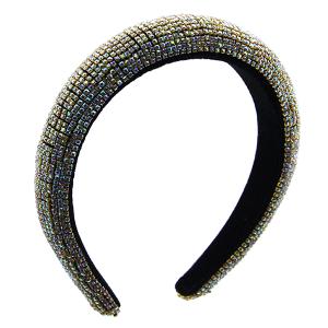 Headband 164a 52 Jennifer & Co rhinestone gold AB multi