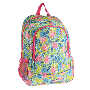 luggage CK LBP-N-1501 backpack paisley green fuchsia