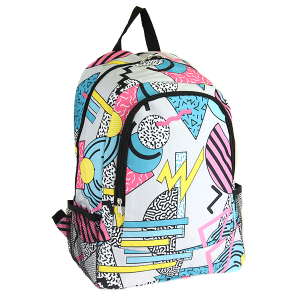 luggage CK LBP-N-1608 backpack retro geometric gray multi