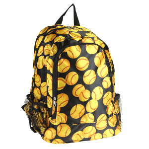 luggage CK LBP-N-3055 backpack softball yellow black