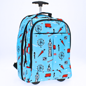 luggage 6018 rolling computer backpack London light blue