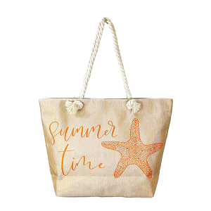 LOF LOA-264 summer time beach tote coral