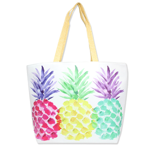 LOF LOA100 beach tote pineapple multi