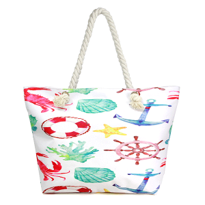 LOF LOA311 beach tote assorted sea print multi