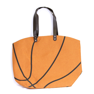 Wholesale Large Canvas Basketball Tote Bag In Orange