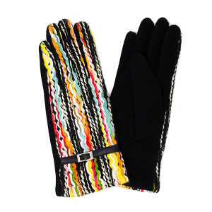 Gloves 038 LOF Touch Screen multi color yarn yellow