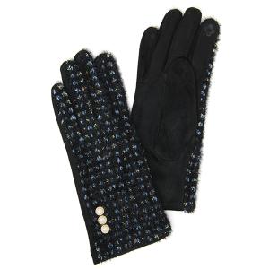 Winter Gloves 002 04 LOF soft lurex pearl smart touch black