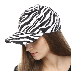 Cap 169a 04 LOF Animal Print Zebra white