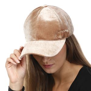 Cap 248a 04 LOF Solid Soft baseball cap beige