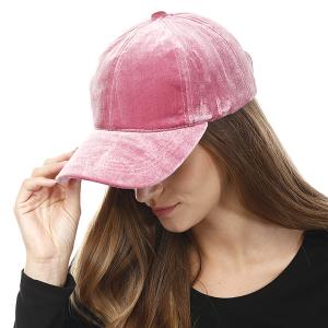 Cap 005k 04 LOF Solid Soft baseball cap pink