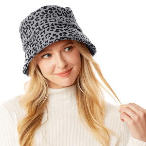 Bucket Hat 021w 04 LOF leopard print gray