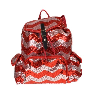 cs lusq 45 sv chevron sequin backpack red