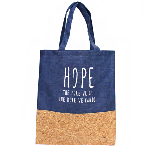 TPO MB0001 Canvas Tote cork HOPE blue