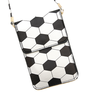 Soccer Pouch Crossbody Leather