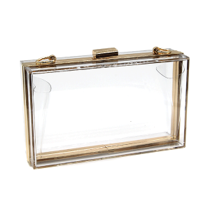 Rectangle hard case clutch transparent MBA8301 clear