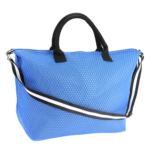 3D mesh duffle bag blue