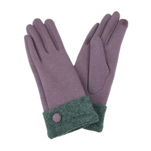 Winter Gloves 012 Touch Screen Purple Gray