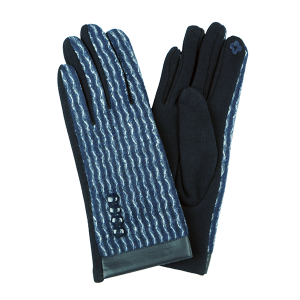 Winter Gloves 044 Touch Screen waves navy white