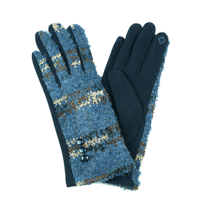 Winter Gloves 048 Touch Screen navy gold