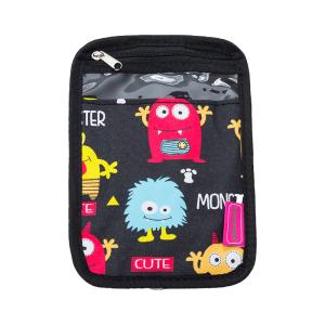 luggage 1005 passport holder monster black