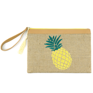 TPO MP0045 burlap cosmetic case pineapple yellow