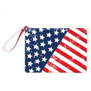 TPO MP0099 canvas cosmetic case rustic USA flag