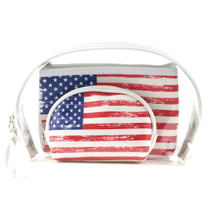 TPO MP0106 3pc cosmetic case set USA flag
