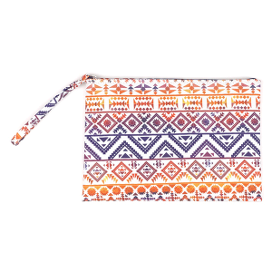 TPO MP0122 canvas cosmetic case geometric aztec navy red
