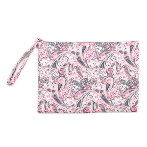 TPO MP0125 canvas cosmetic case paisley pink