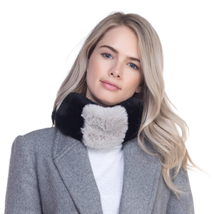 Scarf 007 TPO Soft dual tone scarf magnetic gray black
