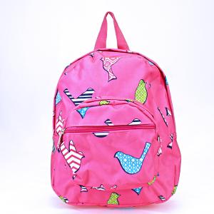 luggage AK NB5 26 youth backpack multi bird pattern fuchsia