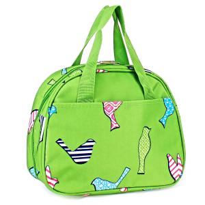 luggage ak ncc20 26 bird pattern lunch box green