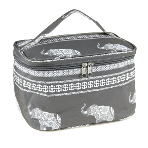 luggage ak NC70 ELE collapsible makeup bag boho elephant gray