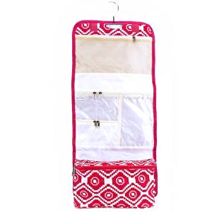 luggage AK NCB25 27 hanging cosmetic case pink geometric aztec