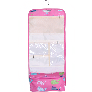 luggage AK NCB25 27 hanging cosmetic case multi whale light pink