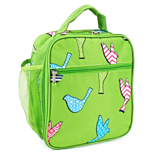 luggage ak ncc17 26 long lunch box bird pattern green