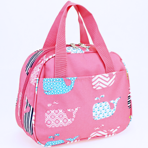 luggage ak ncc20 27 lunch box multi whale light pink