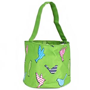 luggage AK NH80 26 basket bag green bird pattern