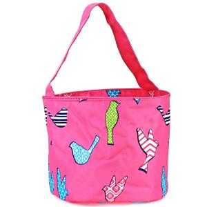 luggage AK NH80 26 basket bag fuchsia bird pattern